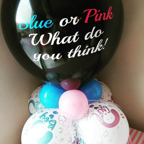 "Blue or Pink What do you think!"" Tafelballon GENDER REVEAL"