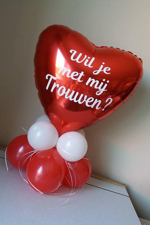 Folieballon met een vraag?