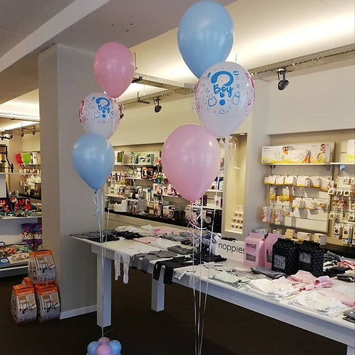 Ballon Decoratiestuk GENDER REVEAL.