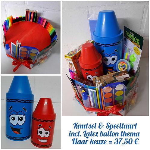 Knutsel & Speeltaart incl. latex ballon.
