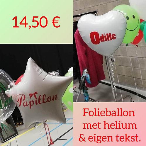 Folieballon HELIUM met eigen tekst.