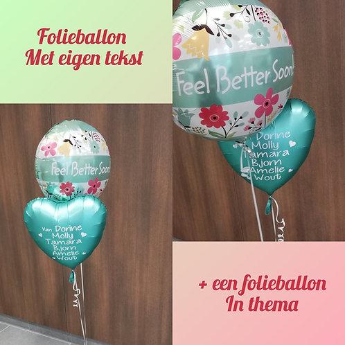 2 Folieballon 45 cm (1x eigen tekst + 1x in thema)