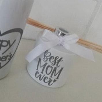 Parfumfles 200 ml (Afgewerkt) Wit met Zilveren dop