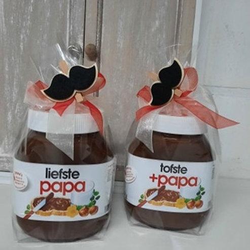 Nutella 750 gram met tekst: liefste papa OF tofste +papa