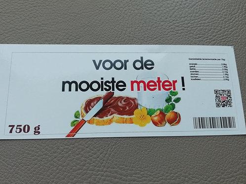 NUTELLA STICKER: Voor de mooiste meter! (Enkel de sticker)