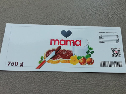 NUTELLA STICKER: (hartje) mama (Enkel de sticker)