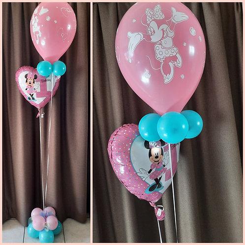 Folie cijferballon van 45 cm + 1 Latexballon