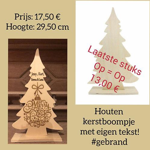 Houten Kerstboom met tekst!