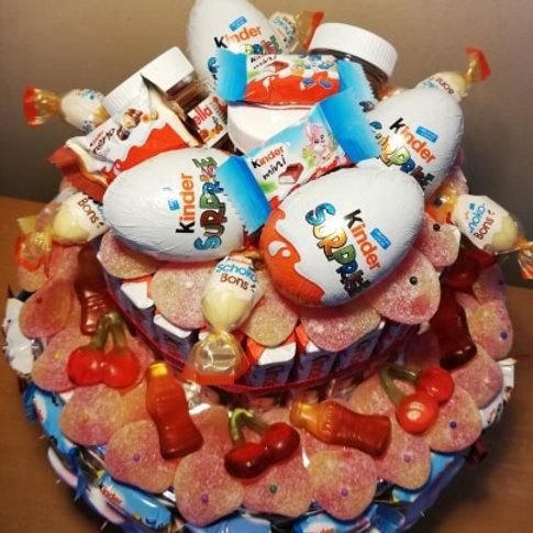 Snoep-Taart (MIX Kinder Surprise en Snoep)