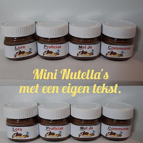 Mini Nutella: Stel je eigen tekst samen! (1 woord per potje)