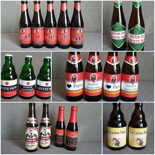 Bier of Frisdrank etiket OP BESTELLING