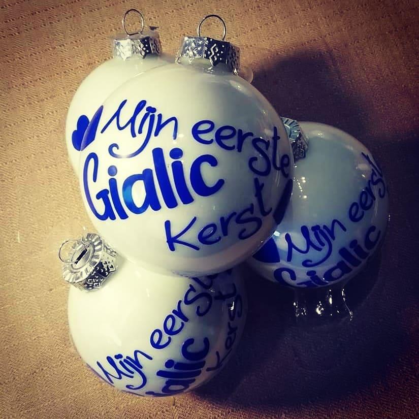 Kerstbal met naam!