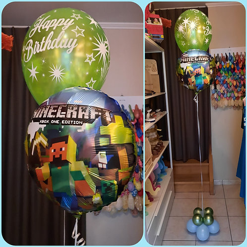 Folieballon 45 cm + 1 verjaardag latexballon