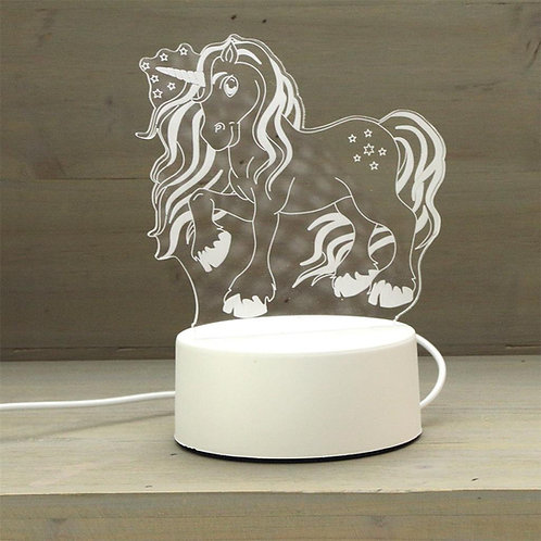Ledlamp: Unicorn + Naam!