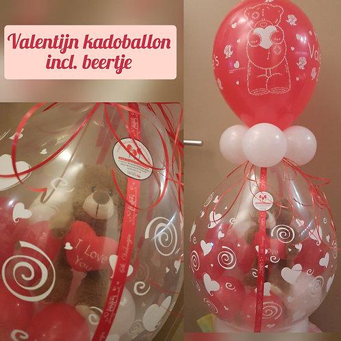 Valentijn kadoballon incl. beertje.