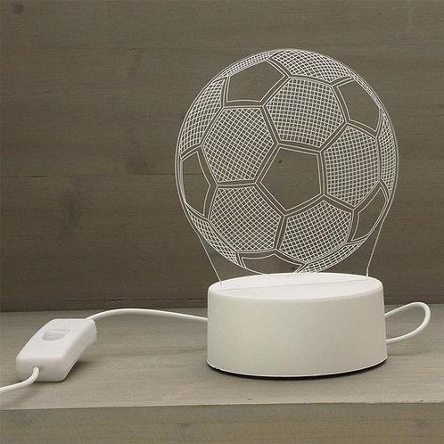 Ledlamp: Voetbal + Naam!