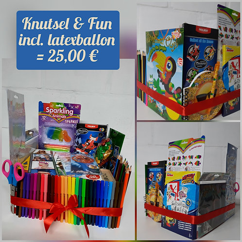 Knutsel & Fun, incl. latex ballon.