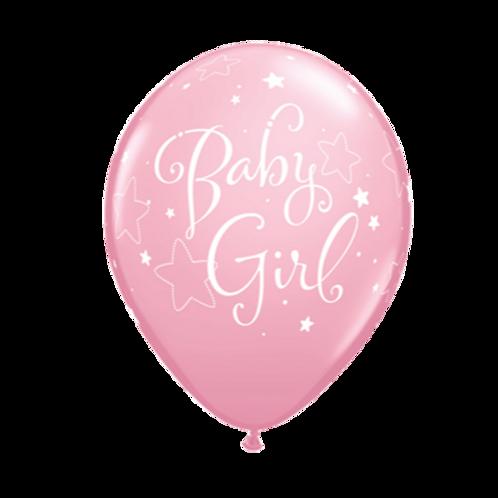 6 x Baby Girl (Licht Roze Ballonnen)