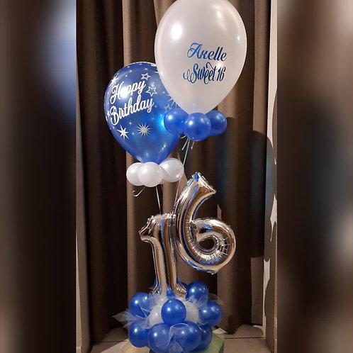 Dubbel Cijfer + 2 Latex Ballonnen