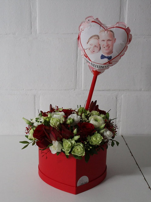 Flowerbox: Hartvorm + Fotoballon.