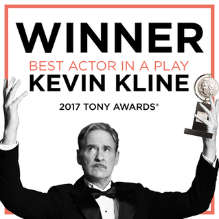 KEVIN KLINE wins Tony Award for Present Laughter