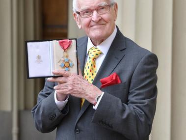 PETER NICHOLS RECEIVES CBE