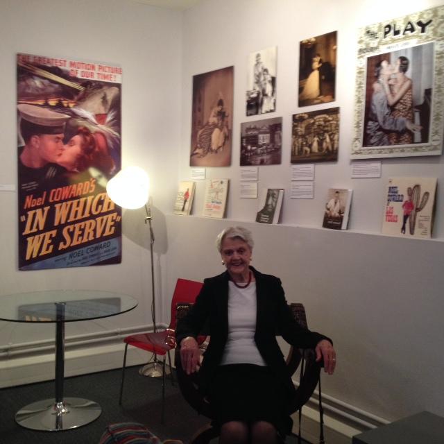 Angela Lansbury in Coward's chair AL