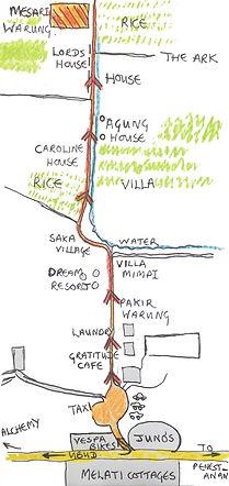 Map to Mesari Warung
