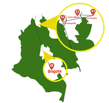 mapa Caribbean Endemics