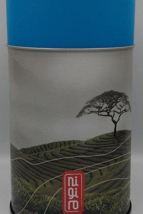 Tea Canister Blue Lid
