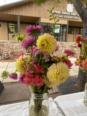 Dahlia, Asters and snapdragons