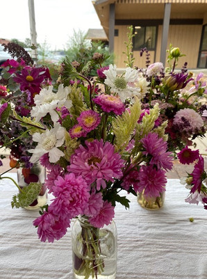 Asters and scabiosa