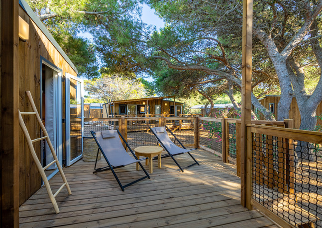 Eco lodge terrasse