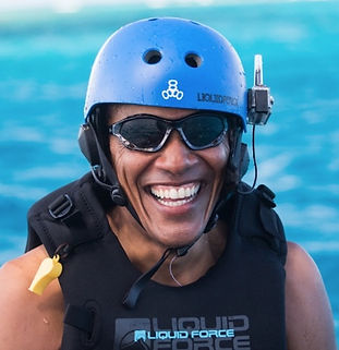 barack obama fait du kitesurf