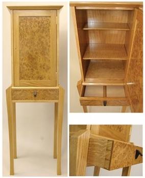 Burr Oak Cabinet