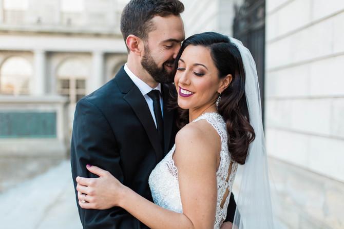 Kristen & Matt's Elegant Winter Wedding | Portland, Maine