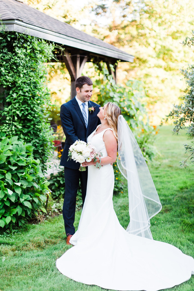 Carrie & Kevin | Intimate Garden MicroWedding in Maine