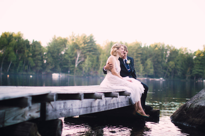 Maggie & Ted's Lakeside Maine Wedding