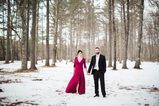 Kristen & Matt's Formal Winter Engagement Session