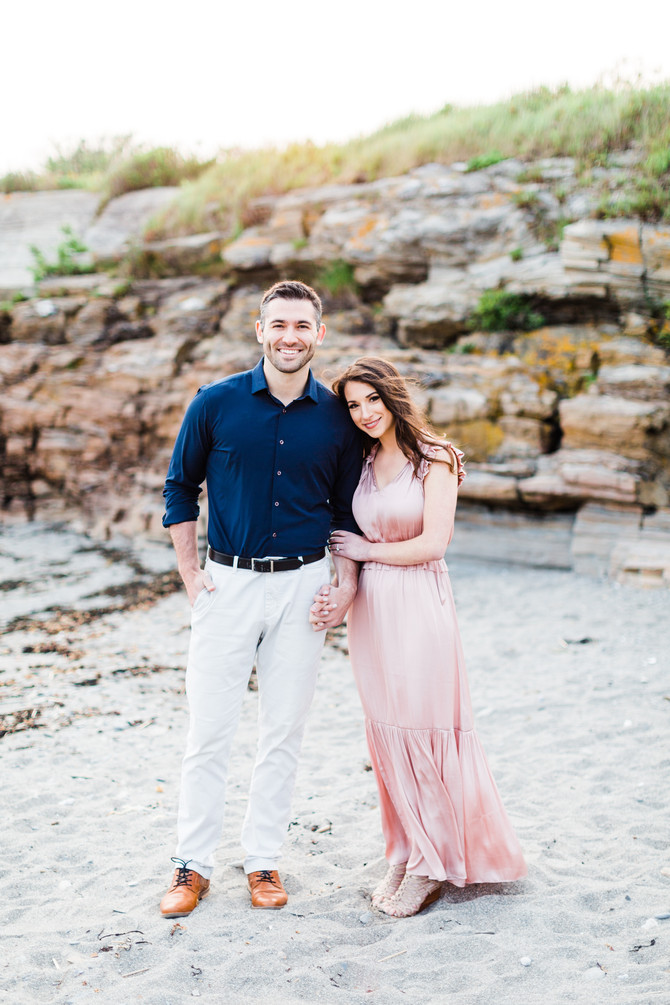 Taylor & Chad | Golden Coastal Maine Engagement