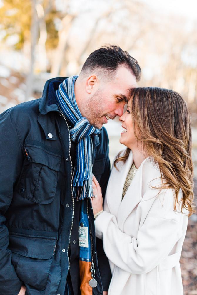 Lauren & Jason | Coastal Winter Engagement