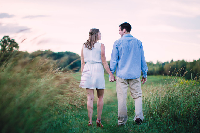 Nicole & Mike's Sunset Engagement Session