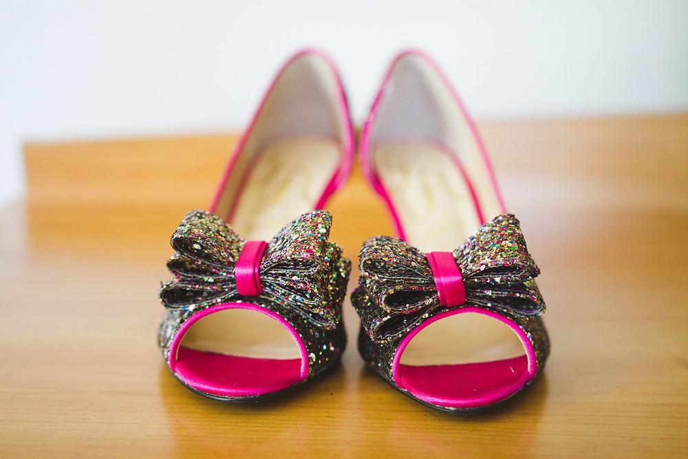 AFogartyWeddingPhotography-SundayRiverMaineWedding-PinkSparklyShoes.jpg