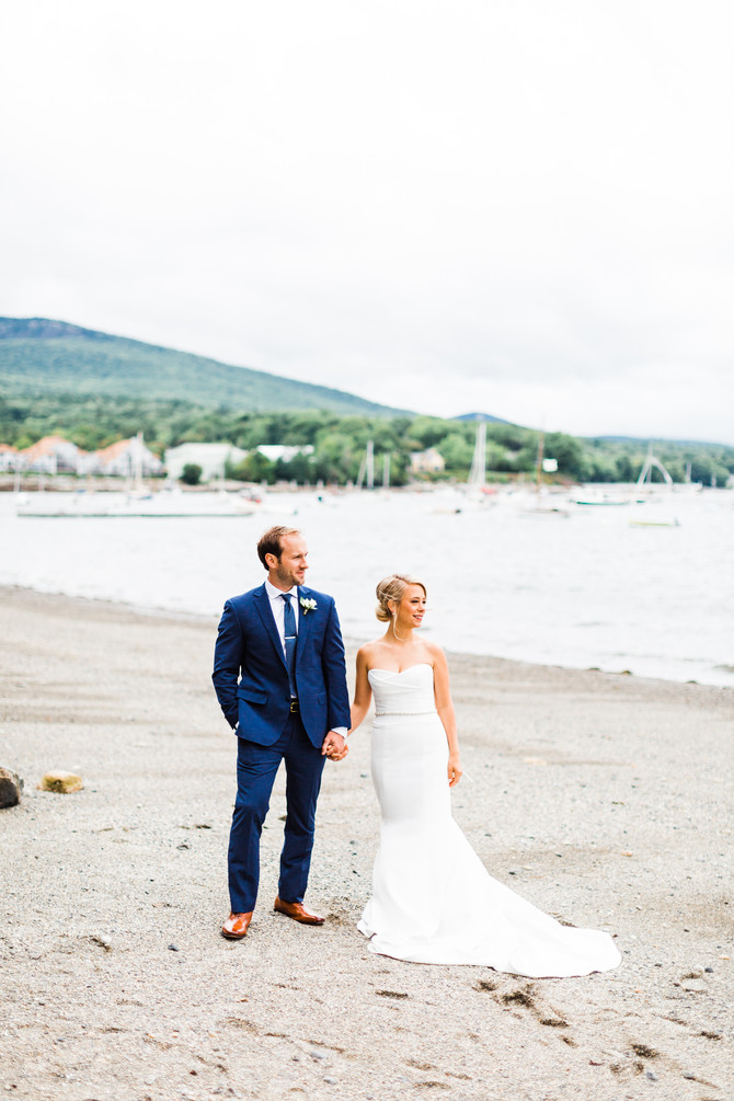 Alexis & Tucker's Camden Yacht Club Wedding | Maine Photographer & Videographer