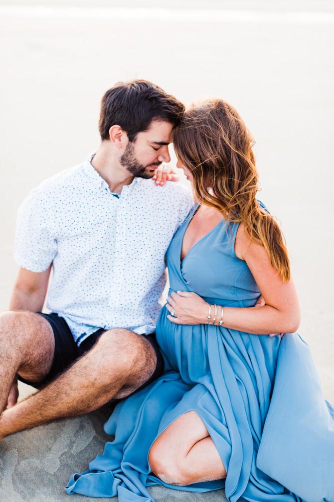 Megan & Chris | Maine Beach Maternity Session