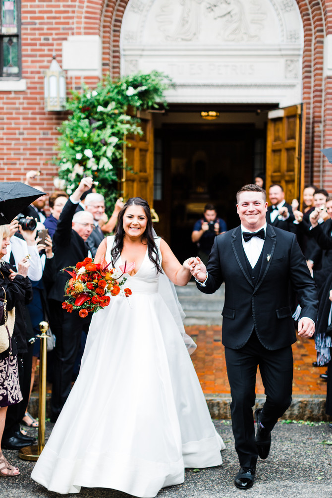 Christina & Eddie | Modern Portland, Maine Wedding featured in The Knot New England Magazine