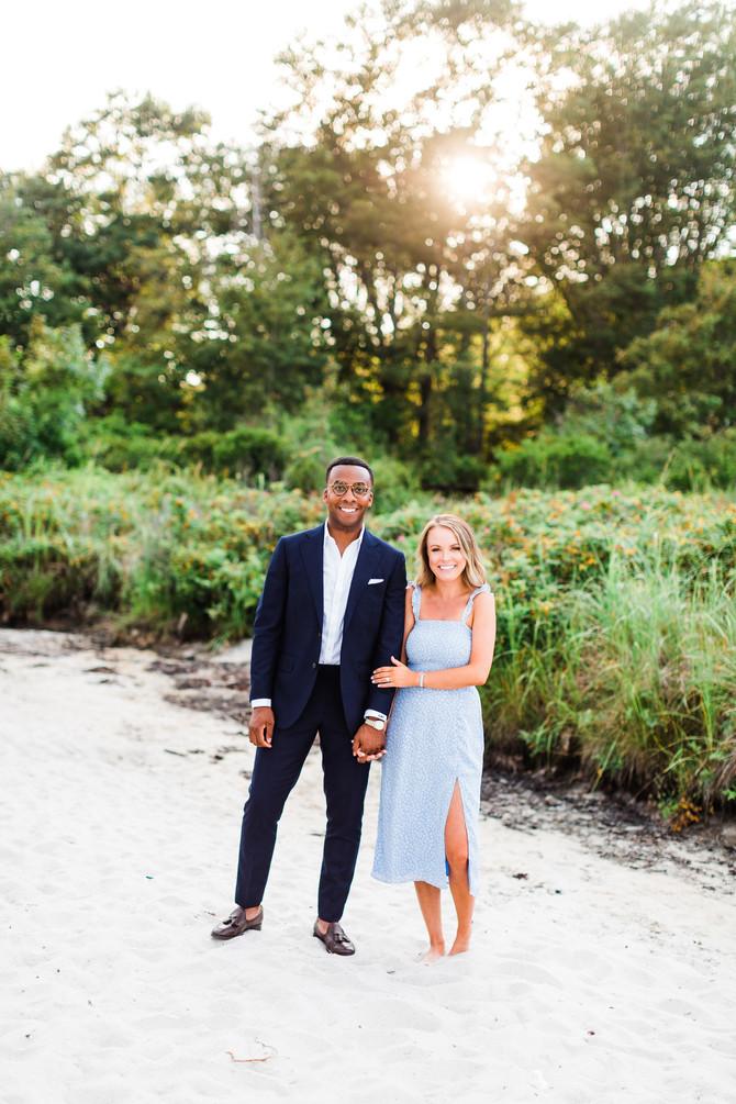 Hanni & Lincoln | Maine Beach Engagement