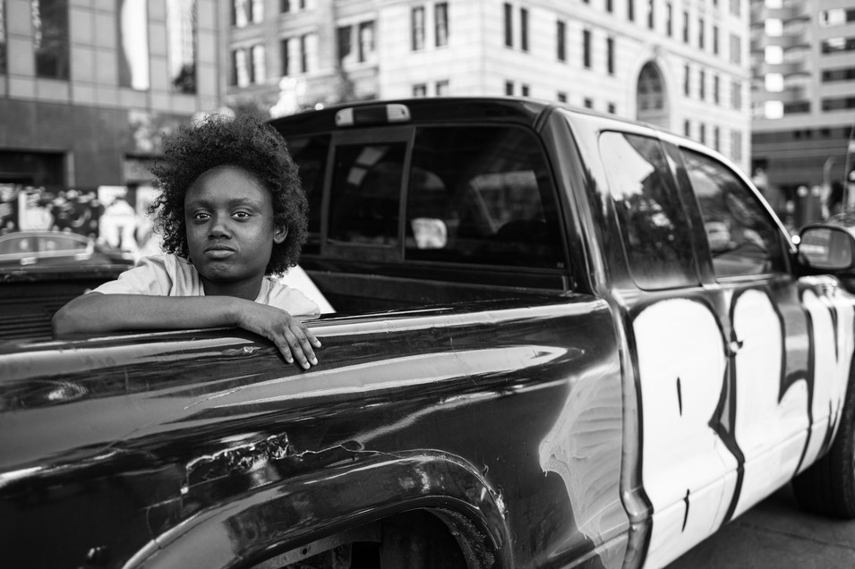 Child In Pickup Bed Of BLM Truck, 2020