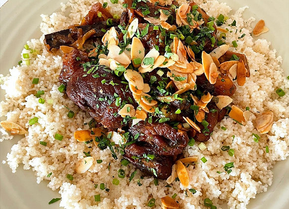 LAMB TAGINE WITH APRICOTS AND OLIVES
