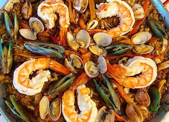 SEAFOOD PAELLA WITH CHORIZO